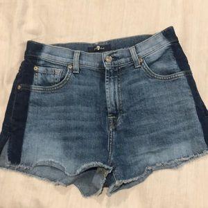 7 for all mankind denim jean shorts sz 26